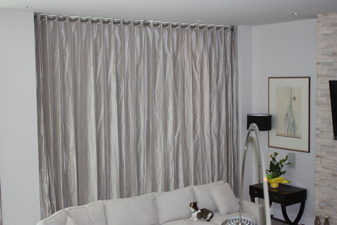 Motorized Curtains Closed