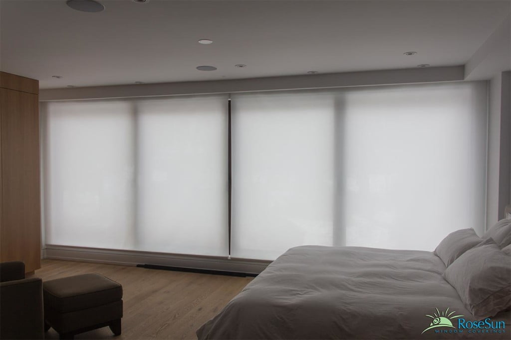Large window blinds motorized shades large free engine for Electric skylight shades motorized blinds