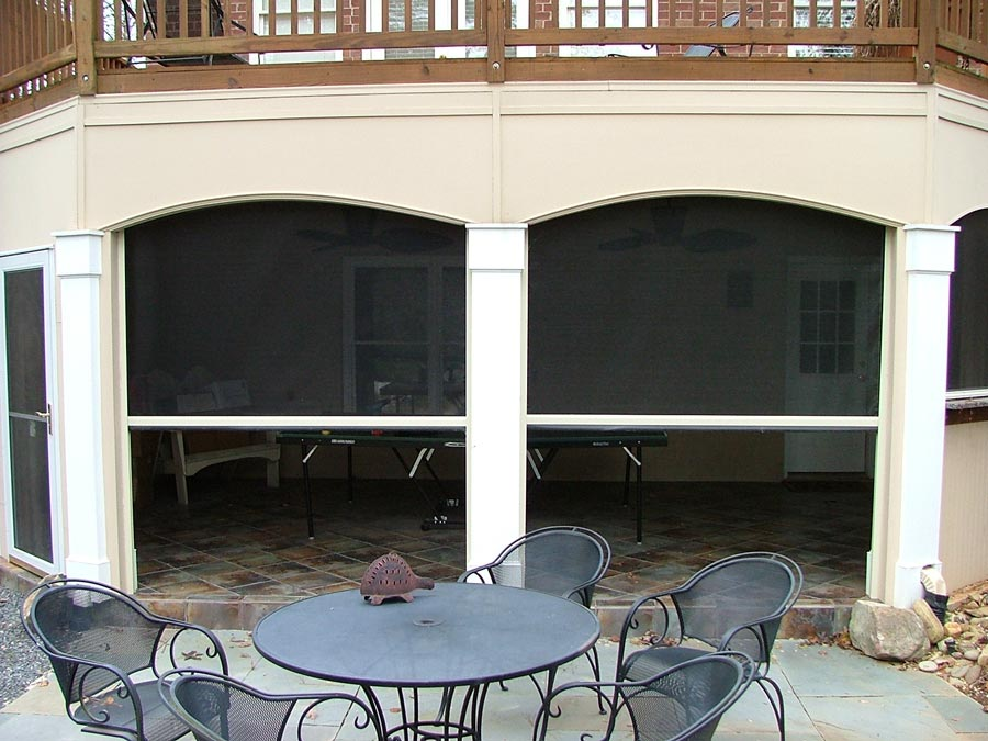 Motorized retractable screens rosesun window
