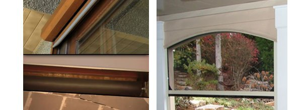 Motorized Retractable Screen Options Rose Sun Window