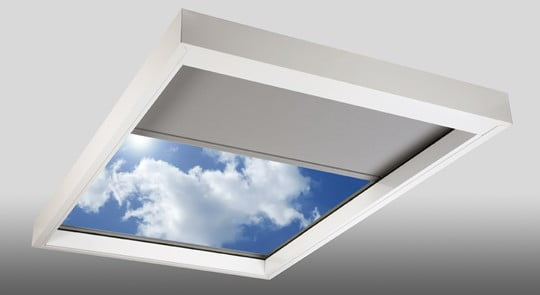 Motorized Shades For Remote Controlled Skylights