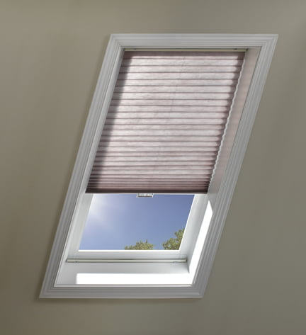 Flat and honeycomb skylight shades motorized and manual for Motorized blinds for skylights
