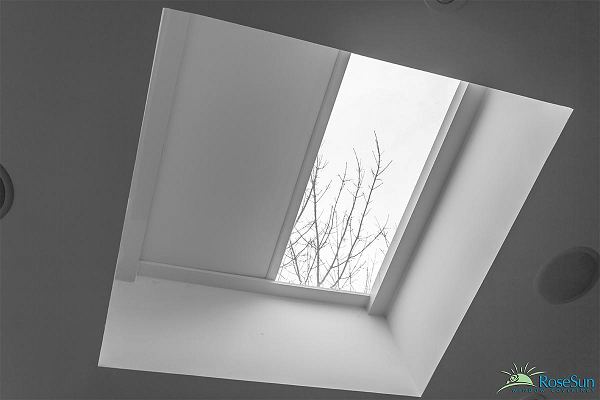 Image of a seamless designed skylight blinds by Rose Sun Motors