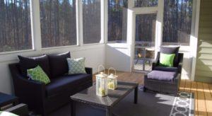 Image of tinted windows to keep sunroom cool