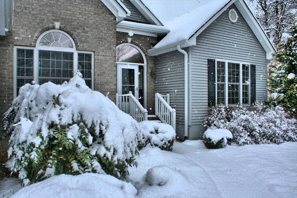 Image of a winterized home in Canada